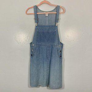 Vintage 90's FADS Denim Blue Jean Silver Dress